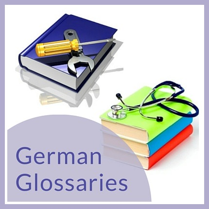 German glossaries & specialist vocabulary